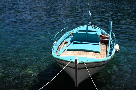 Fishing boat on the Ionian island of Lefkas  Greece photo