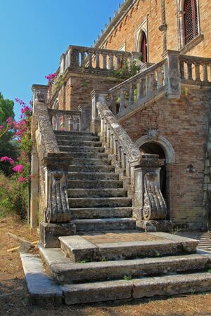 Exterior of an old Castle on Corfu island Greece photo