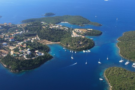 Aerial view on Sivota Greece