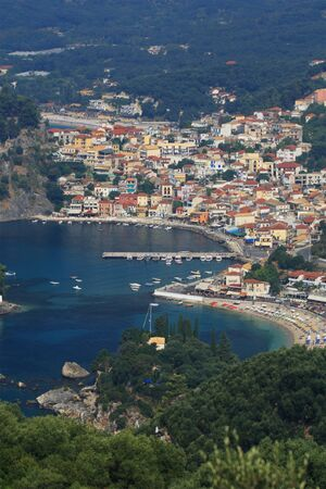 Aerial view on Parga Greece Stock Photo - 4351141