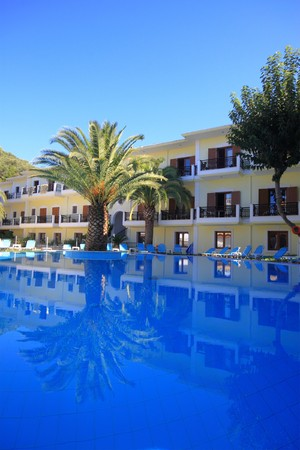 Exterior of a hotel in Greece Stock Photo - 4350926