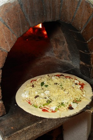 Uncooked pizza photo