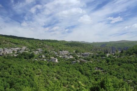 Village of Zagoria Epirus Greece - The deepest canyon in the world photo