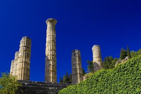 Oráculo de Delfos en Grecia Foto de archivo - 4359477