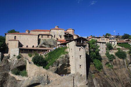thessalia: Greek orthodox monastery in Meteora Thessalia Stock Photo