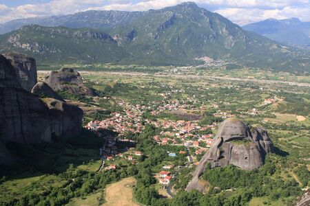 thessalia: The city of Kalambaka Meteora Thessalia central Greece