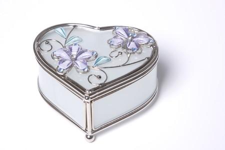 beautiful jewelry box isolated on white photo