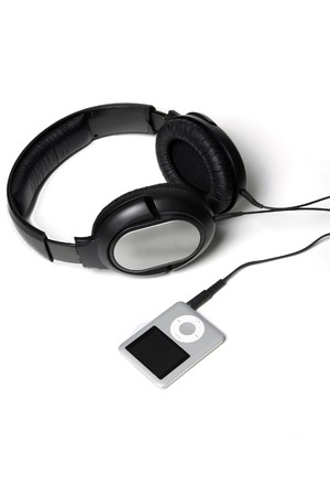 MP3 Player with huge headphones photo