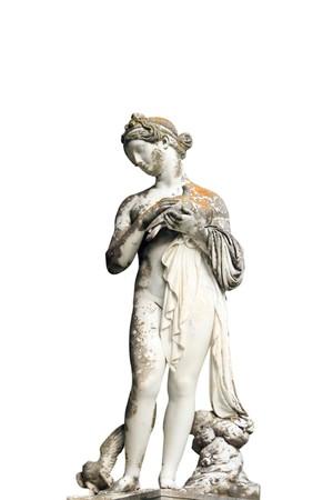 muse: Statue of a Muse in Achillion Palace on Corfu island Greece     Stock Photo
