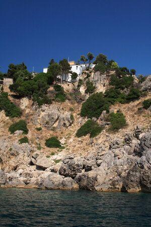 Paleokastritsa on corfu island Greece   photo