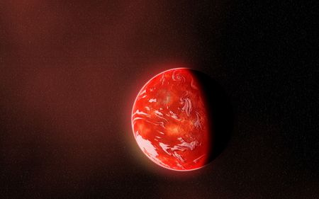 upclose: Composite image of an alien planet up-close
