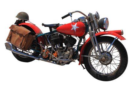 Motorrad isoliert auf wei�em Hintergrund
