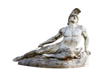 Statue of Achilles in Achillion Palace corfu