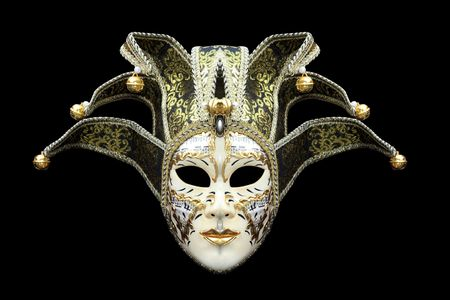 jester: Carnival Mask from Venice Italy Stock Photo