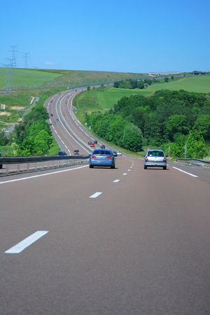 overtake: Country Highway in France