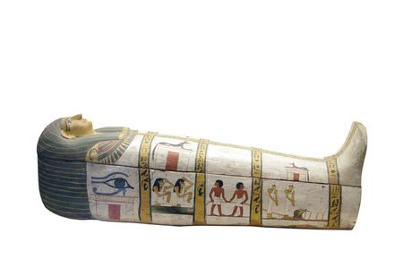 coffin: sarcophagus isolated on white background