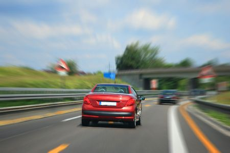 Country Highway with motion blur Stock Photo