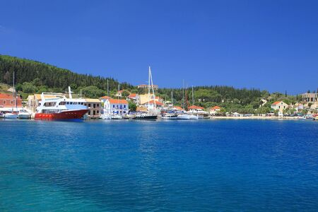 kefalonia: The harbour at Fiskardo on the greek island of Kefalonia