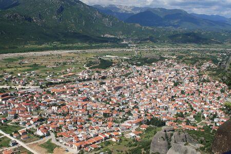 kalambaka: Kalambaka City in the valley - Meteora place, Greece