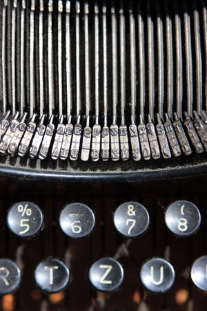 Old dusty Typewriter photo