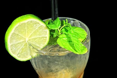 cocktail on black background Stock Photo - 5417032