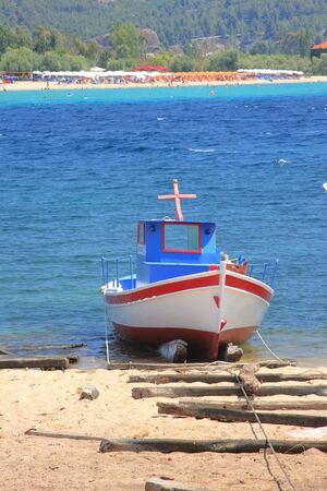 Fishing boat in Neos Marmaras Greece Stock Photo - 5417059