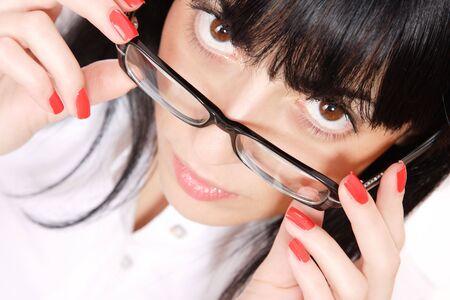 Sexy Business Woman wearing glasses   photo