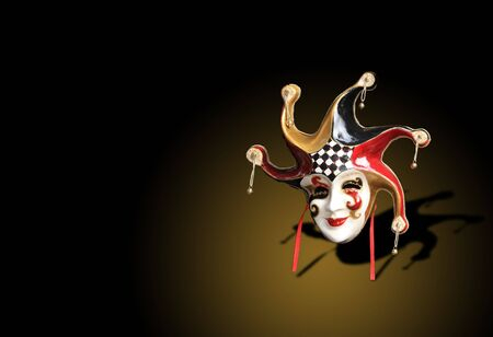 A Beautiful carnival mask composition from venice Italy photo