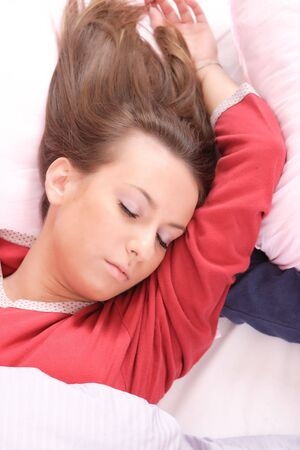A Cute woman sleeping Stock Photo - 6288165