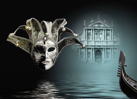 Beautiful carnival mask composition from venice Italy photo