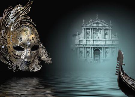 Prachtige carnaval masker samenstelling van Venetië Italië