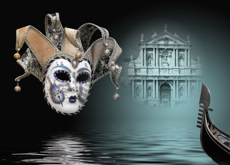 Beautiful carnival mask composition from venice Italy Stock Photo