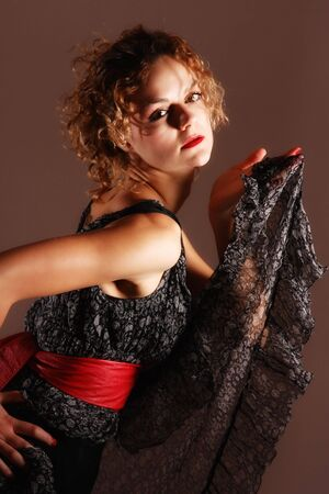Fashion style of a beautiful young lady  photo