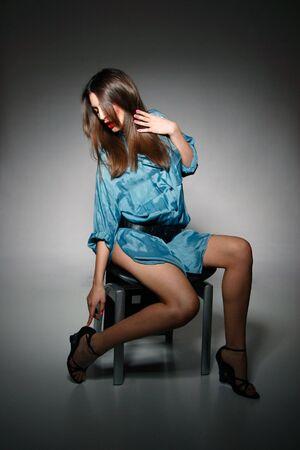 Fashion style photo of a beautiful young lady   photo