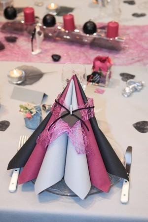 table set for a wedding dinner Stok Fotoğraf - 7637902