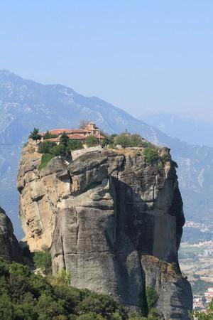 thessalia: Monasteries of Meteora in Thessalia Greece   Stock Photo