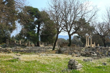ancient olympic games: Ancient Olympia the cradle of the olympic games in Greece     Stock Photo