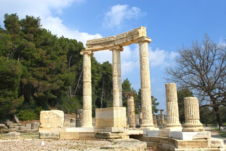 Ancient Olympia the cradle of the olympic games in Greece     Stock Photo