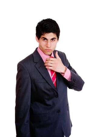 friendly business man isolated over white background Stock Photo - 8045193