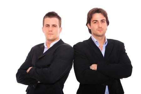 zwei Business Männer Portrait, isoliert auf weiss