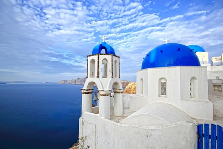 Church in Oia - Santorini island Greece Stock Photo