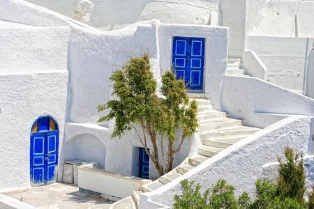 view of Santorini island Greece photo