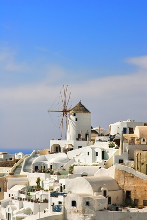 view of Oia  Santorini island Greece Stock Photo - 9662380