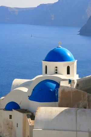 Church in Oia - Santorini island Greece photo
