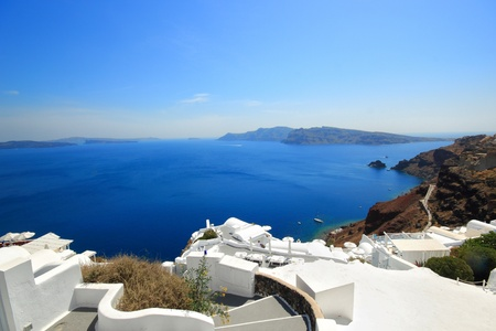 view of Santorini island Greece Stock Photo - 9662378