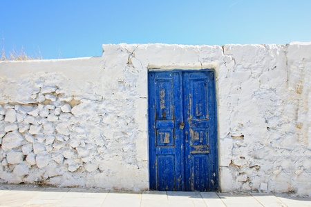 Old door on Santorini island, Greece