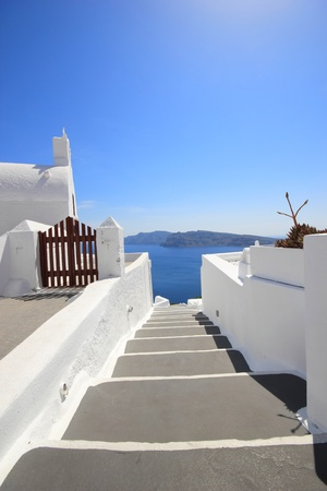 Gate to the sea - Santorini island photo