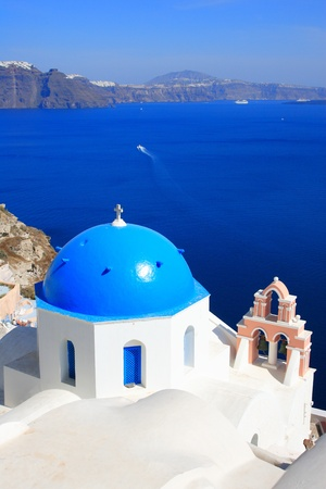 santorini: Church in Oia - Santorini island Greece Stock Photo