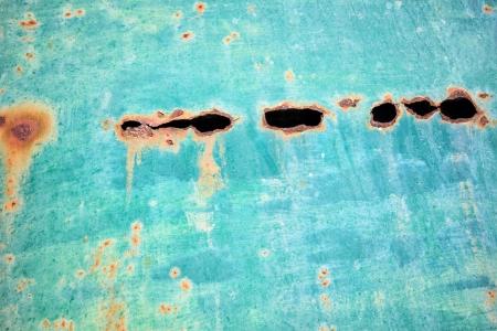 Old rusty oil barrel detail