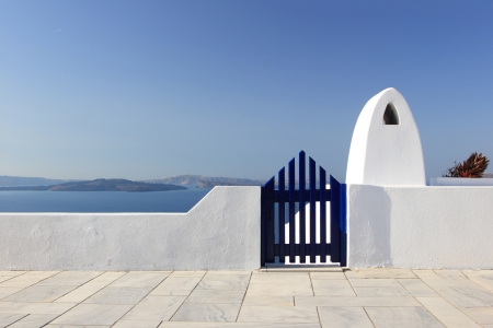 row house: Classical Greek architecture of the streets in the Cyclades Greece Stock Photo